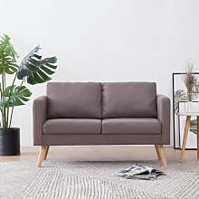 Betterlife - 2-Sitzer-Sofa Stoff Taupe174-A