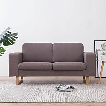 Betterlife - 2-Sitzer-Sofa Stoff Taupe1857-A