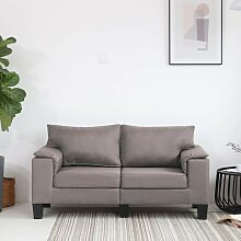 Betterlife - 2-Sitzer-Sofa Taupe Stoff2044-A