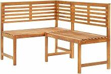 Betterlife - Garten-Eckbank 140 cm Massivholz