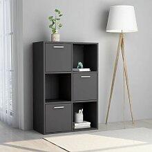 Betterlife - Lagerschrank Grau 60 x 29,5 x 90 cm