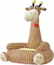 Betterlife - Plüsch-Kindersessel Giraffe Braun
