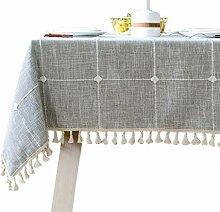 Bettery Home Baumwoll-Leinen-Tischdecke,