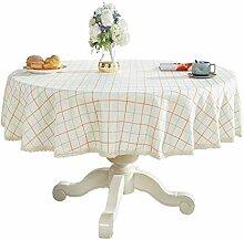 Bettery Schwere Tischdecke aus Baumwollleinen,