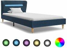 Bettgestell mit LED Blau Stoff 90x200 cm DDH22633