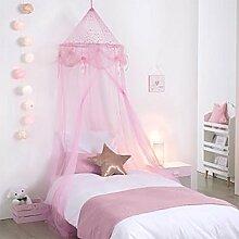 Betthimmel Mädchen Prinzessin rosa mit Sternen