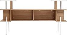 Bettkopfteil ? Schreibtisch Holz und Weiß AMANDA