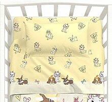 Bettlaken Bett Baby mit Seiten Love gelb Disney