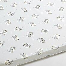 Bettlaken für Wiege Baby Teddy–oval, 50x
