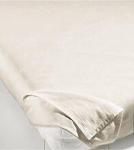 Bettlaken Linon, beige (100/200 cm)