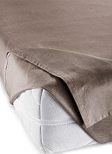 Bettlaken Linon, braun (100/200 cm)