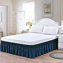 Bettrock Queen-Size-Bett, elastisch, 35,6 cm lang