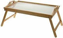 Betttablett aus Holz mit klappbaren Beinen 50x30 cm