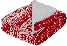 Bettüberwurf Oluf 17 Stories Farbe: Rot/Weiß,