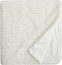 Bettüberwurf Pioche Canora Grey Farbe: Weiß