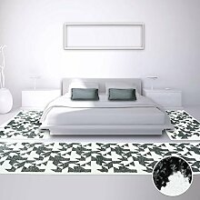 Bettumrandung Teppich-Läufer Flachflor Kurzflor Moda mit Modern, Abstrakten Design in Schwarz-Weiß für Schlafzimmer, 3-teilig, Läufer-Größen: 2x 80x150 cm, 1x 80x300 cm