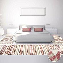 Bettumrandung Teppich Läufer Modern Inspiration ELSE ZickZack Pastel Rosa 2x 80x150cm & 1x 80x300cm