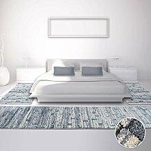 Bettumrandung Teppich Modern Hochwertig Läufer Everest Block Grau Beige NEU 2x80x150 cm & 1x80x300 cm