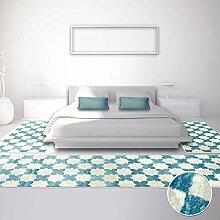 Bettumrandung Teppich Modern Läufer Inspiration Vintage Pastel Blau NEU 2x 80x150cm & 1x 80x300cm