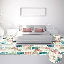 Bettumrandung Teppich Modern Läufer Pastellfarben Inspiration Patchwork 2x 80x150cm & 1x 80x300cm