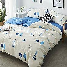 Bettwäsche 135x200 4teilig baumwolle,bettwäsche