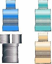 Bettwäsche 135x200 cm Microfaser in 4 Designs, 2x