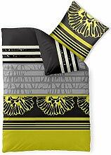 Bettwäsche 135x200 Mikrofaser, Harmony CelinaTex 0002549 grau gelb schwarz