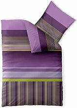 Bettwäsche 155x220 Mikrofaser, Harmony CelinaTex 0002515 Yella Streifen-Muster violett lila grün