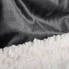 Bettwäsche 200x200 3tlg Lammfell Sherpa Optik Nicki Lamm Fell Felldecken Bettwäsche Winter Bettbezug Bettgarnitur flauschig kuschelig mollig warm CelinaTex 5000139 Fantasia Sandy grau weiß beige