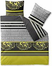 Bettwäsche 200x200 Mikrofaser, Harmony CelinaTex 0002553 grau gelb schwarz