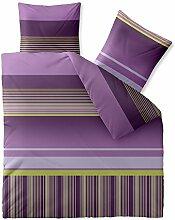 Bettwäsche 200x220 Mikrofaser, Harmony CelinaTex 0002533 Yella Streifen-Muster violett lila grün