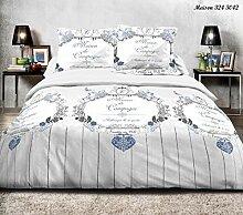 Bettwäsche, 4teilig, für Doppelbett 140x