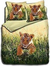 Bettwäsche aus 100% Baumwolle-Baby Tiger