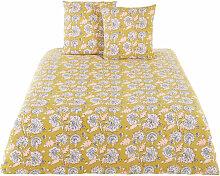 Bettwäsche aus Baumwolle, senfgelb mit