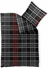 Bettwäsche Baumwolle 135x200 CelinaTex Bettbezug 0003298 Fashion Bianca schwarz weiß ro