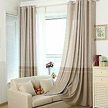 """Bettwäsche Baumwolle Farbe Stoff Vorhänge Fenster , Beige , Tuch 50W x 96""""""""L"""