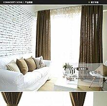 """Bettwäsche Baumwolle Farbe Stoff Vorhänge Fenster , Kaffee , 50W x 96""""""""L"""