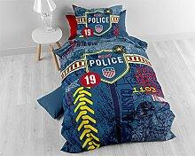 Bettwäsche Baumwolle Sleeptime Kinder Polizei ,