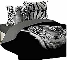 Bettwäsche, Bettbezug Tiger Royal, 3Größen,