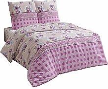 Bettwäsche Bettgarnitur 200x200 Baumwolle mit