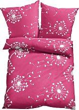 Bettwäsche Cerstin, pink (1x 80/80cm, 1x