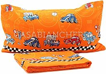 Bettwäsche Dream Cars Für 1,5 Personen Arancione