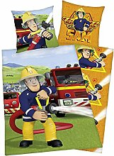Bettwäsche Feuerwehrmann Sam 80x80cm 135x200