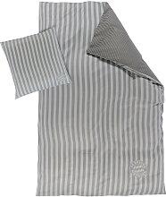 BETTWÄSCHE Graphitfarben, Weiß 135/200 cm