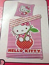 Bettwäsche Hello Kitty auf der Erdbeere Bezug