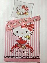 Bettwäsche Hello Kitty Bezug 135x200cm Kissen
