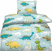 Bettwäsche Kinder 100x135 Dinosaurier