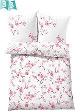 Bettwäsche Kirschblüte, rosa (1x 80/80cm, 1x