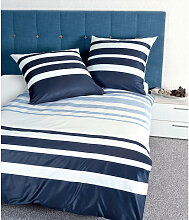 BETTWÄSCHE Makosatin Blau 240/220 cm