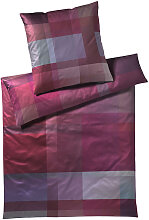 BETTWÄSCHE Makosatin Lila, Violett 155/220 cm